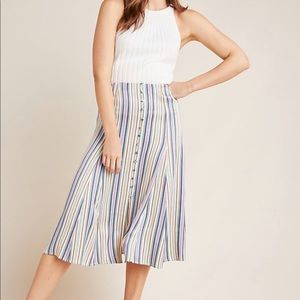 ANTHROPOLOGIE Freya Midi Skirt